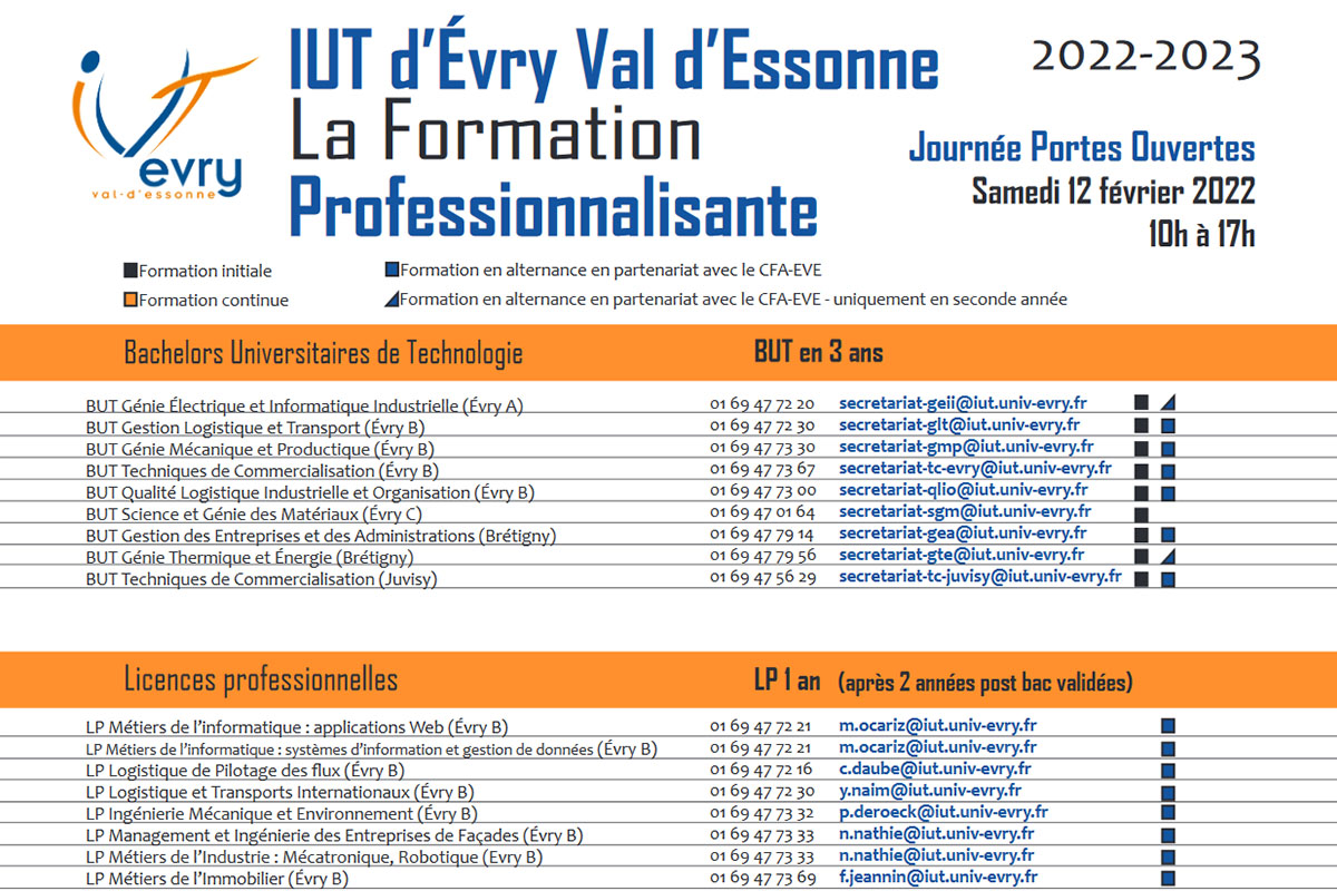 Accueil   IUT d'Évry Val d'Essonne